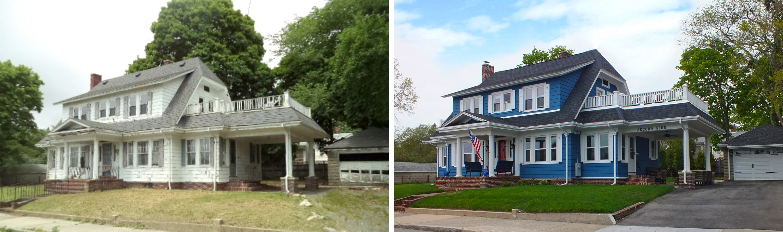 Dutch Colonial Renovation Before and After