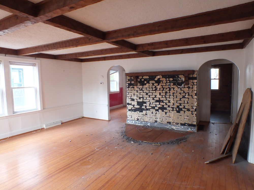 leaky ranch reno living room before