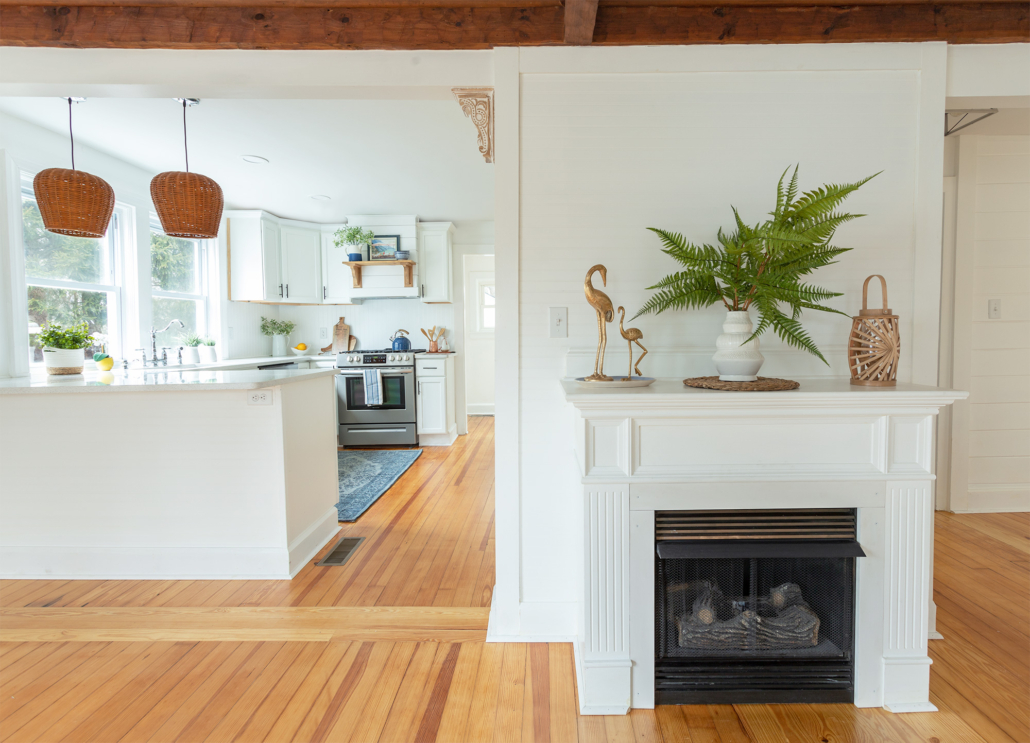 white-kitchen-with-wood-beams